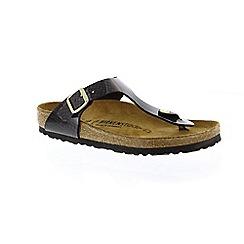 Birkenstock - Black 'Gizeh' t-bar mule sandals