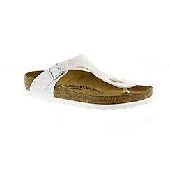 Birkenstock - White 'Gizeh' t-bar mule sandals