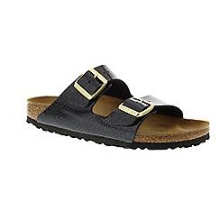Birkenstock - Black 'Arizona' peep toe mule sandals