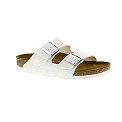 Birkenstock - White 'Arizona' peep toe mule sandals