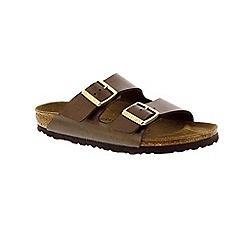 Birkenstock - Chocolate 'Arizona' peep toe mule sandals