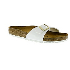 Birkenstock - White patent 'Madrid' mule sandals