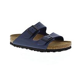 Birkenstock - Blue 'Arizona' peep toe mule sandals