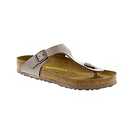 Birkenstock - Brown Hazel Brown 'Gizeh' toe post sandals