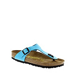 Birkenstock - Blue Blue Patent 'Gizeh' toe post sandals