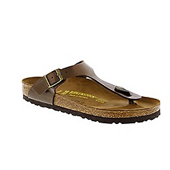 Birkenstock - Brown graceful toffee 'Gizeh' ladies toe post sandal with buckle