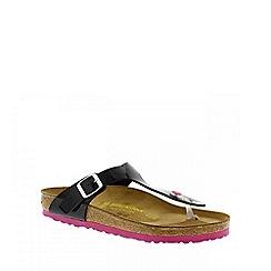 Birkenstock - Black patent/Pink Gizeh ladies sandal