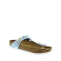 Birkenstock - Light blue Shiny Snake Sky Gizeh ladies sandal