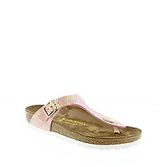 Birkenstock - Rose Shiny Snake Rose Gizeh ladies sandal