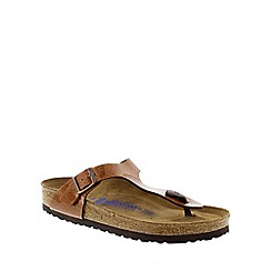 Birkenstock - Bronze Magic Galaxy Bronze 'Gizeh' toe post sandals