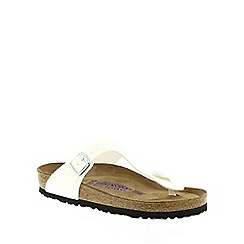 Birkenstock - White Magic Galaxy White 'Gizeh' toe post sandals