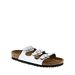 Birkenstock - Silver Silver 'Florida' slip on sandals