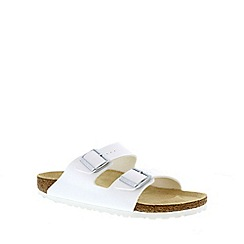 Birkenstock - White 'Arizona' two-strap ladies sandals
