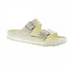 Birkenstock - White 'Arizona Eva' ladies two strap sandal