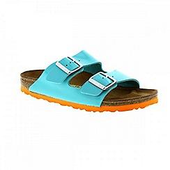 Birkenstock - Green 'Arizona' ladies narrow fit two strap sandals