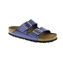 Birkenstock - Blue Metallic Dark Sapphire Arizona Womens Sandals