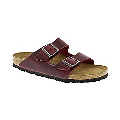 Birkenstock - Dark Red Oiled Leather Zinfandel Arizona Womens Sandals