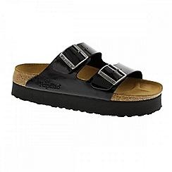 Birkenstock - Black patent Black 'Arizona' platform sandals