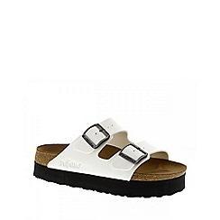 Birkenstock - White Patent White Arizona Platform Womens Sandals