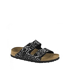 Birkenstock - Black royal python 'Arizona' ladies two strap sandals