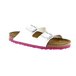 Birkenstock - White patent 'Arizona' ladies two strap sandals