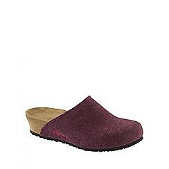 Birkenstock - Red 'Audrey' ladies slippers