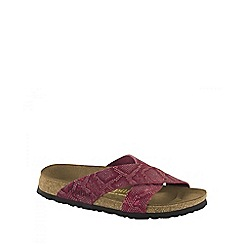 Birkenstock - Red royal python 'Daytona' ladies sandals