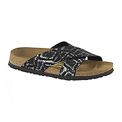 Birkenstock - Black royal python 'Daytona' ladies sandals