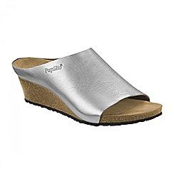 Birkenstock - Silver Metallic 'Debby' ladies wedged sandal
