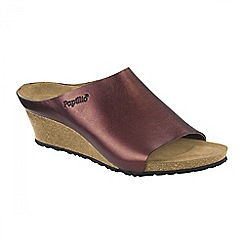 Birkenstock - Red Metallic 'Debby' ladies wedged sandals