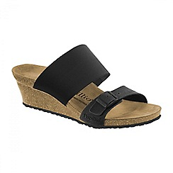 Birkenstock - Black 'Della' ladies wedged sandals