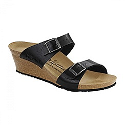 Birkenstock - Black graceful licorice 'Dorothy' ladies wedged sandals