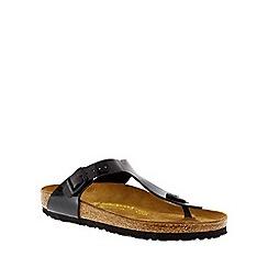 Birkenstock - Black patent 'Gizeh' thong sandal