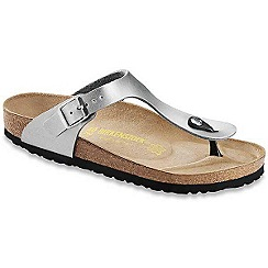 Birkenstock - Silver 'Gizeh' toe-post ladies sandals