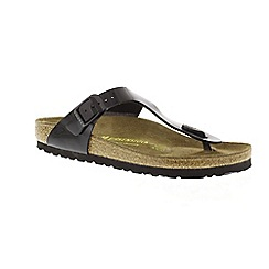 Birkenstock - Black Patent 'Gizeh' ladies sandals