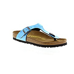 Birkenstock - Blue 'Mirror gizeh' women's toe post sandal