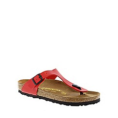 Birkenstock - Red Cherry Red Gizeh women's toe post sandal