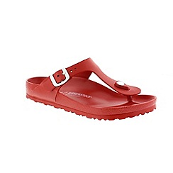 Birkenstock - Red 'Gizeh Eva' women's toe post sandals