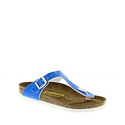 Birkenstock - Blue Neon Gizeh toe post sandals