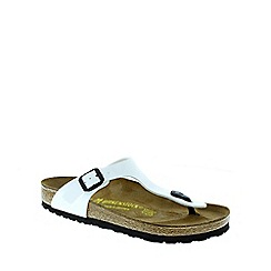 Birkenstock - White Patent 'Gizeh' Womens Sandals