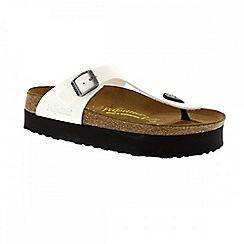 Birkenstock - White Patent White Gizeh Platform Women's Sandal