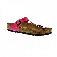 Birkenstock - Pink pink patent 'Gizeh' ladies toe post sandal