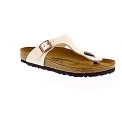 Birkenstock - White pearl white 'Gizeh' toe post sandals