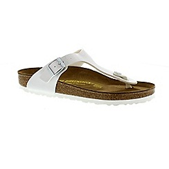 Birkenstock - White pearly white 'Gizeh' ladies toe post sandal