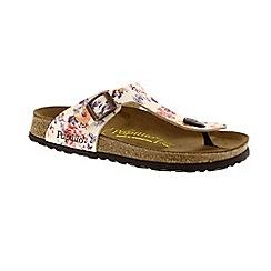 Birkenstock - Beige 'Gizeh' papillio ladies toe post sandal