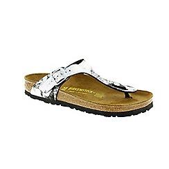 Birkenstock - Silver Stardust Black Gizeh Womens Sandals