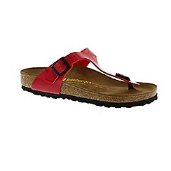 Birkenstock - Red 'Gizeh' ladies single strap sandals