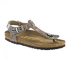 Birkenstock - Brown shiny snake sand 'Kairo' ladies sandals