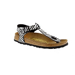 Birkenstock - Black zebra black silver kairo womens sandals