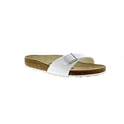 Birkenstock - White 'Madrid' single strap sandal